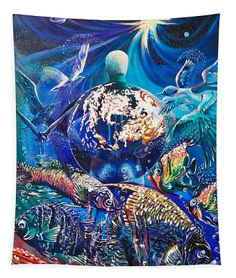Planet  Earth - Our Family Tree Tapestry
