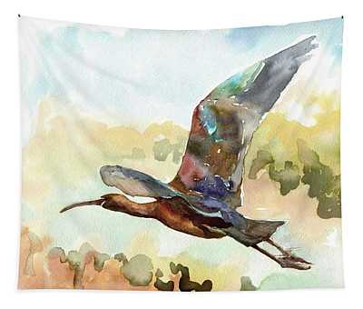 Glossy Ibis Tapestry