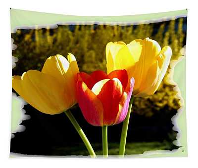 Glowing Country Tulips  Tapestry