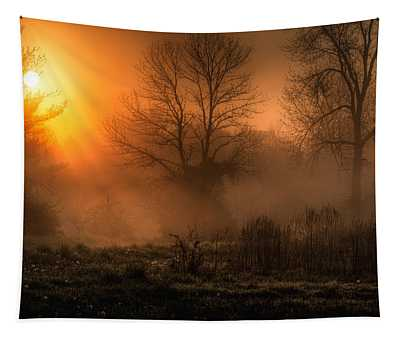 Glowing Sunrise Tapestry