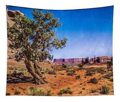 Gnarled Utah Juniper At Monument Vally Tapestry