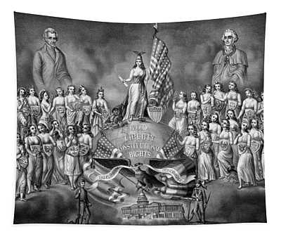 God Liberty And Constitutional Rights Tapestry