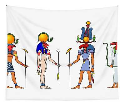 Gods And Goddess Of Ancient Egypt Tapestry
