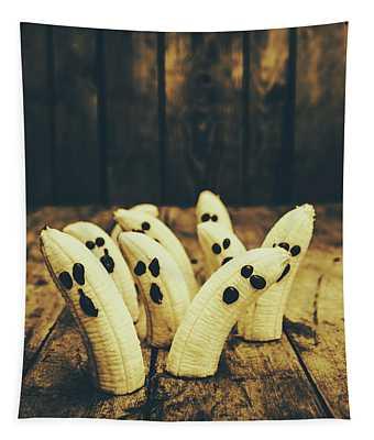 Going Bananas Over Halloween Tapestry