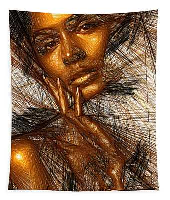 Gold Fingers Tapestry