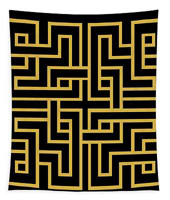 Gold Geo 6 Tapestry
