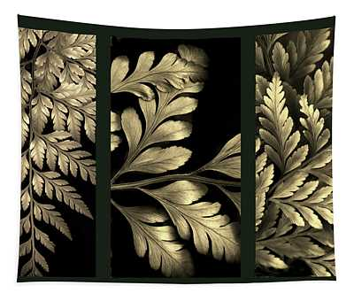 Gold Leaf Triptych Tapestry
