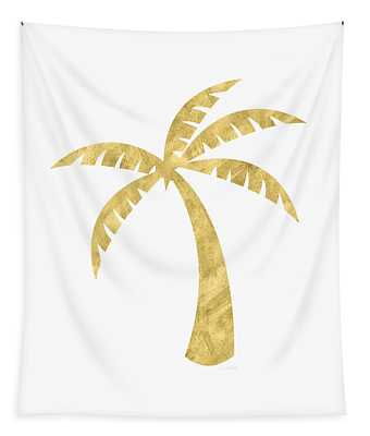 Gold Palm Tree- Art By Linda Woods Tapestry