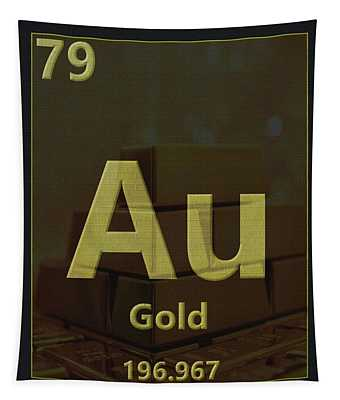 Gold Periodic Table Tapestry