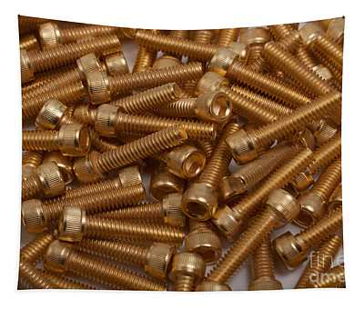 Gold Plated Screws Tapestry