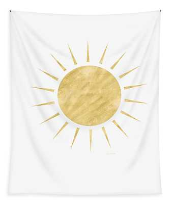 Gold Sun- Art By Linda Woods Tapestry