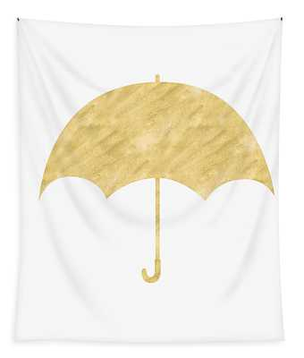 Gold Umbrella- Art By Linda Woods Tapestry