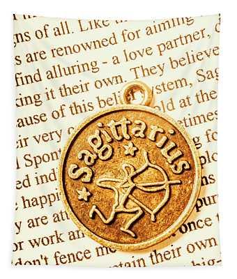 Golden Archer Sagittarius Tapestry