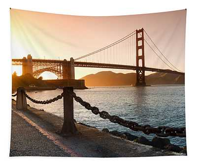 Golden Gate Chain Link Tapestry