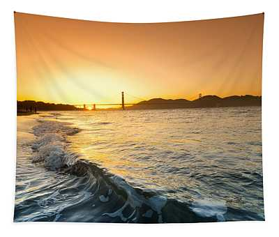 Golden Gate Curl Tapestry