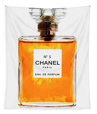 Golden Glow Of Chanel No. 5 Tapestry