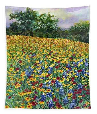 Golden Hillside Tapestry