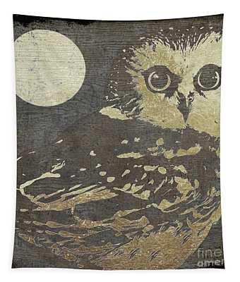 Golden Owl Tapestry