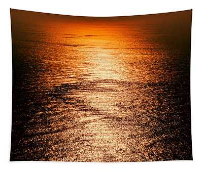 Golden Sea In Alanya Tapestry