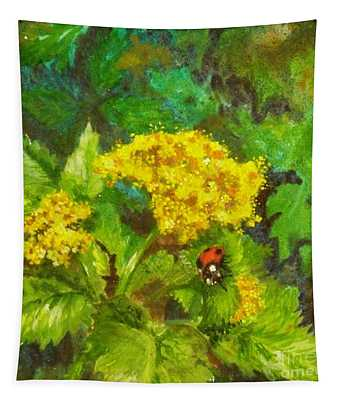 Golden Summer Blooms Tapestry