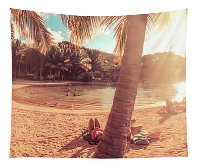 Golden Sunsets Of Airlie Beach Tapestry