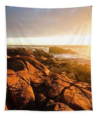 Golden Tasmania Coastline Tapestry