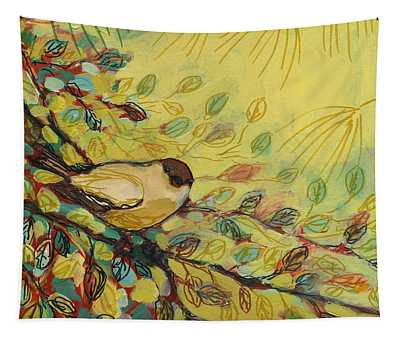 Goldfinch Waiting Tapestry