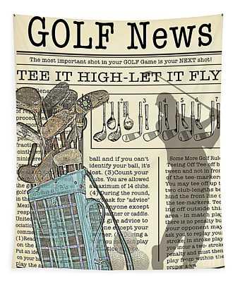 Golf News 1 Tapestry