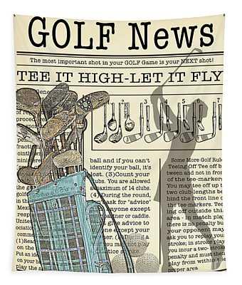 Golf News 2 Tapestry