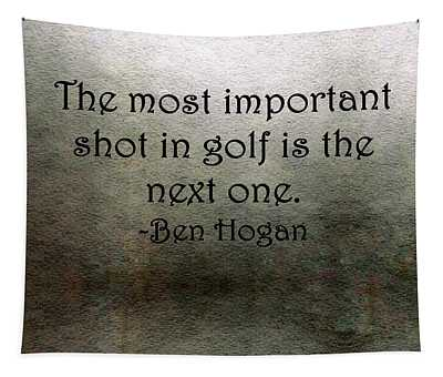 Golf Quote Tapestry