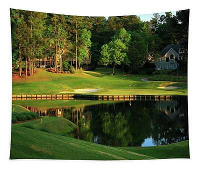 Golf The Landing #3 Reynolds Plantation Lake Oconee Ga Art Tapestry