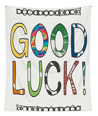 Good Luck Card- Art By Linda Woods Tapestry