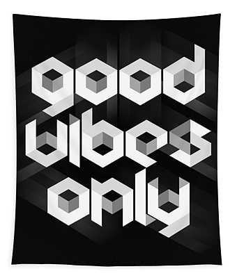 Good Vibes Only Quote Tapestry