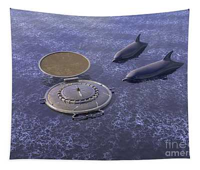 Goodbye Humankind - Surrealism Tapestry