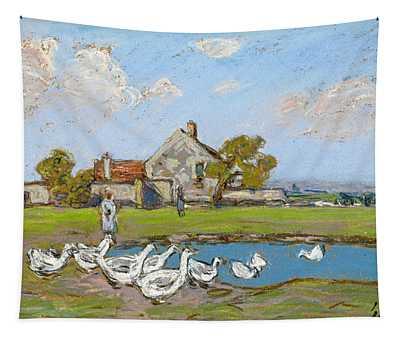 Goose Girl At Sablons Tapestry
