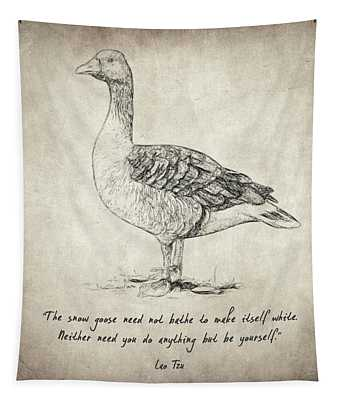 Goose Quote By Lao Tzu Tapestry
