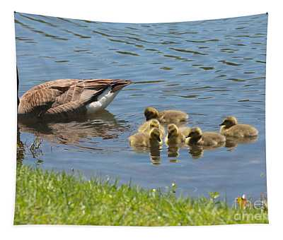 Goslings Gathering Tapestry