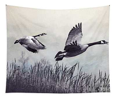 Graceful Geese Tapestry