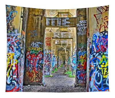 Grafiti Bridge To Nowhere Tapestry