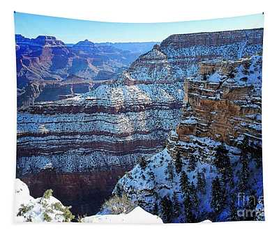 Grand Canyon National Park In Winter Tapestry