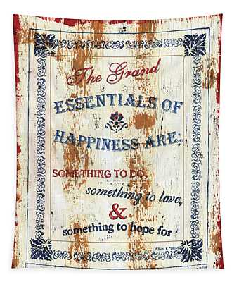 Grand Essentials Of Happiness Tapestry