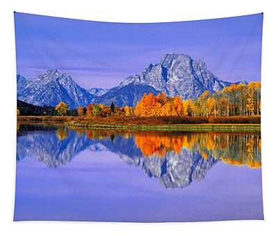 Grand Tetons And Reflection In Grand Tapestry
