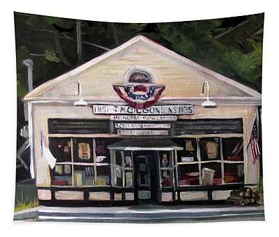 Granville Country Store Front View Tapestry