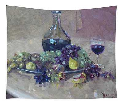 Grape And Wine Tapestry