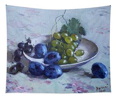 Grapes And Plums Tapestry