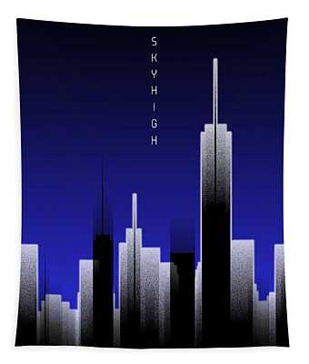 Graphic Art Skyhigh Lights - Blue Tapestry