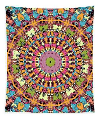 Tapestry featuring the digital art Graphic Novel Style Kaleidoscope by Joy McKenzie
