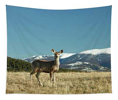 Grassy Mountain Deer Tapestry