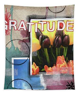 Gratitude- Art By Linda Woods Tapestry