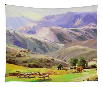 Grazing In The Salmon River Mountains Tapestry